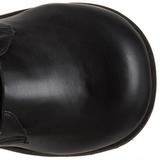 Mat 8,5 cm TRASHVILLE-518 Plateau Gothic Støvler til Mænd