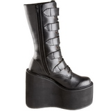 Matte 14 cm SWING-220 womens buckle boots with platform