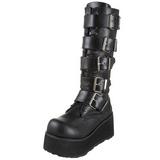 Matte 8,5 cm TRASHVILLE-518 Platform Mens Gothic Boots