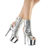 Mirror 18 cm ADORE-1018DBM womens platform soled ankle boots