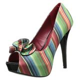 Multicolored 13 cm LOLITA-12 womens peep toe pumps shoes