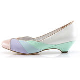 Multicolored 4 cm LULU-05 Pinup Pumps Shoes with Low Heels