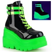 Neon 11,5 cm SHAKER-52 demonia alternativ kilehæl boots plateau hvide
