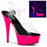 Neon 15 cm Pleaser DELIGHT-608UV Pole dancing high heels shoes