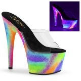 Neon 18 cm ADORE-701GXY højhælede mules - pole dance mules