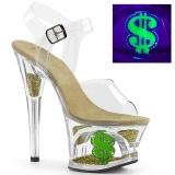 Neon 18 cm MOON-708USD Pole dancing high heels shoes