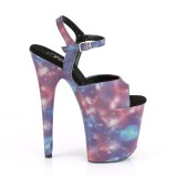 Neon 20 cm FLAMINGO-809REFL Pole dancing high heels shoes