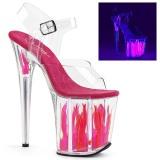Neon 20 cm Pleaser FLAMINGO-808FLM Pole dancing high heels shoes