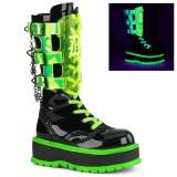 Neon 5 cm SLACKER-156 cyberpunk plateaustøvler