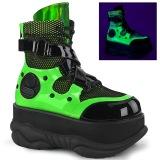 Neon 7,5 cm NEPTUNE-126 demonia ankelstøvler - unisex cyberpunk ankelstøvler