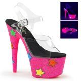 Neon glimmer 18 cm Pleaser ADORE-708STR poledance sko