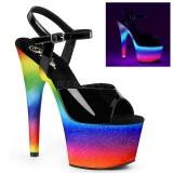 Neon glimmer 18 cm Pleaser ADORE-709WR poledance sko
