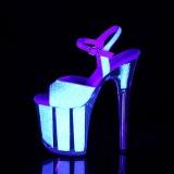 Neon glimmer 20 cm FLAMINGO-810UVG poledance sko