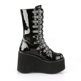 Patent 11,5 cm DEMONIA KERA-50 goth boots with platform