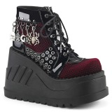 Patent 12 cm STOMP-18 lolita ankle boots wedge platform
