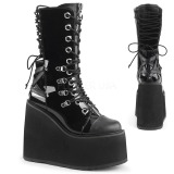 Patent 14 cm SWING-120 goth boots with platform