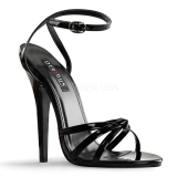 Patent 15 cm Devious DOMINA-108 high heeled sandals