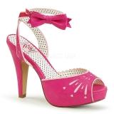 Pink 11,5 cm Pinup BETTIE-01 højhælede sandaler til kvinder