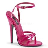 Pink 15 cm Devious DOMINA-108 højhælede sandaler til kvinder