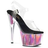 Pink 18 cm ADORE-708HGI Hologram platform high heels shoes