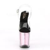 Pink 20 cm FLAMINGO-808HGI Hologram plateau high heels sko
