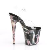 Pink 20 cm FLAMINGO-808STORM Hologram platform high heels shoes