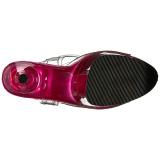 Pink 20 cm FLAMINGO-808T Akryl Plateau Højhælede Sandaler