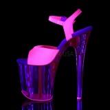 Pink 20 cm FLAMINGO-809UVT Neon Plateau Højhælede Sandaler Sko