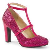 Pink Glimmer 10 cm QUEEN-01 store størrelser pumps sko