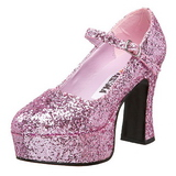Pink Glitter 11 cm MARYJANE-50G Mary Jane Pumps Plateau