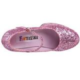 Pink Glitter 11 cm MARYJANE-50G Mary Jane Pumps Plateau