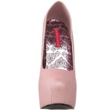 Pink Glitter 14,5 cm Burlesque TEEZE-31G Platform Pumps Sko