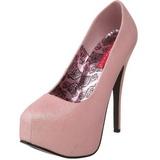 Pink Glitter 14,5 cm TEEZE-31G Platform Pumps Sko