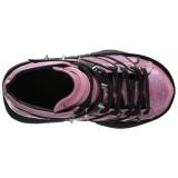 Pink Kunstlæder 7,5 cm NEPTUNE-100 Plateau Gothic Sko til Mænd