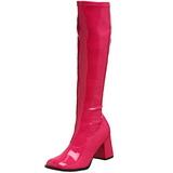 Pink Lak 7,5 cm Funtasma GOGO-300 Dame Støvler