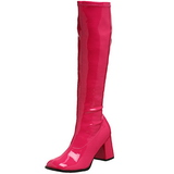 Pink Lak 8,5 cm Funtasma GOGO-300 Dame Støvler