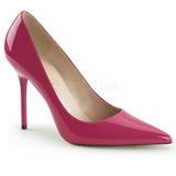 Pink Lakeret 10 cm CLASSIQUE-20 spidse pumps med stiletter hæle