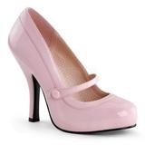 Pink Lakeret 12 cm CUTIEPIE-02 Dame Pumps Flade Hæle