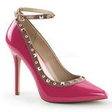 Pink Lakeret 13 cm AMUSE-28 klassisk pumps sko til damer