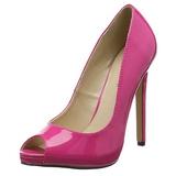 Pink Lakeret 13 cm SEXY-42 klassisk pumps sko til damer