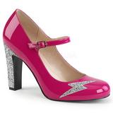 Pink Laklæder 10 cm QUEEN-02 store størrelser pumps sko