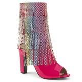 Pink Laklæder 10 cm QUEEN-100 store størrelser ankelstøvler dame