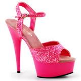 Pink Neon 15 cm Pleaser DELIGHT-609UVG Platform High Heels
