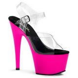 Pink Neon 18 cm ADORE-708UV High Heels Platform