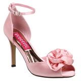 Pink Satin 9,5 cm ROSA-02 Høje Damesandaler flade Hæl