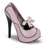Pink Shiny 14,5 cm Burlesque BORDELLO TEEZE-01 Platform Pumps