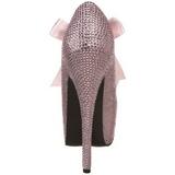 Pink Strass 14,5 cm Burlesque TEEZE-04R Høje Pumps Kvinder Plateau Hæle