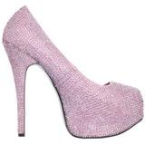 Pink Strass 14,5 cm Burlesque TEEZE-06R Høje Pumps Kvinder Plateau Hæle