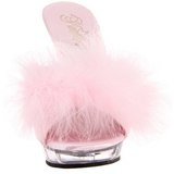 Pink Transparent 13 cm Fabulicious LIP-101-8 Platform High Mules