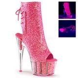 Pink glitter 18 cm ADORE-1018G ankelstøvler damer med plateausål